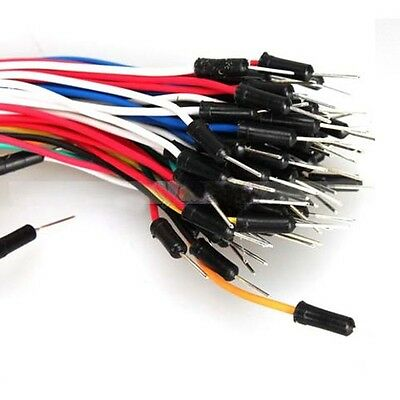 65PCS Mixed Color New Solderless Breadboard Jumper Cable Wire Kit