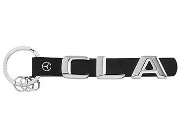 Genuine Mercedes-Benz Leather/Stainless Steel CLA Key ring B66957951 NEW!