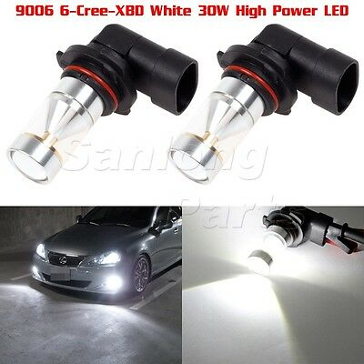 Two Fog Driving Light White Cree-XBD Super Bright 720 LM Mirror Reflect LED 9006