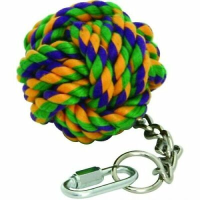 Happy Pet Nuts For Knots Cage Toy Rope Ball On Chain Pet Parrot Parakeet 20006