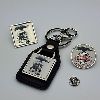 """THE EXPENDABLES  """"Expendable"""" Prop Collection: Badges, Tie Pins & Key Rings- NEW"""