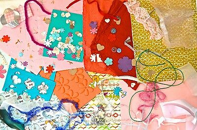 Bag Assorted Bits & Bobs Pack Art Craft Card Scrapbook Making Projects Kit Sheet