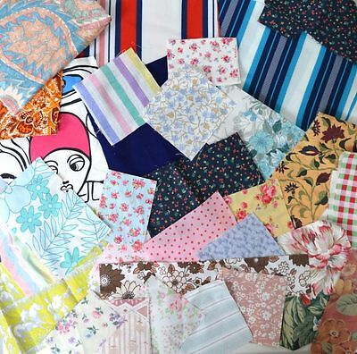100g Off Cuts Bag Fabric Mixed Colour Craft Material Sewing Patchwork Remnants