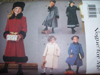 Vogue #7368-Girls Beautiful-Elegant Single~Double Breasted Coat Pattern 5-6X Ff