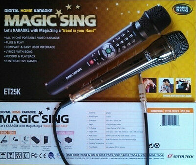 NEW MAGIC SING ET25K 2300 Tagalog English Songs Free DUET WIRED MICROPHONE