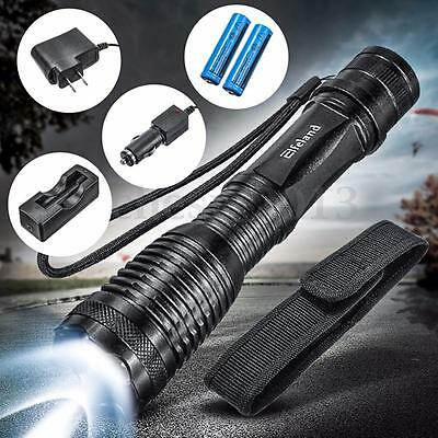 UltraFire 2500 Lumen CREE XML T6 LED Zoomable Flashlight Torch 18650 Battery +Ch