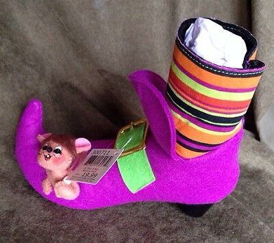 """Annalee 5"""" Peek A Boo Witches Shoe NWT"""