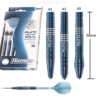 Harrows Aura 95% Tungsten Steel Tip Darts - New Cutting Edge Designs