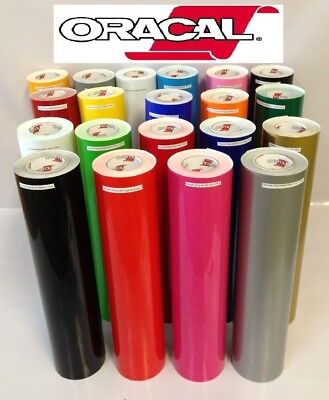 "20 Rolls 12""x24"" Craft Oracal 651 Vinyl Pick From 20 Glossy Colors Made in usa"