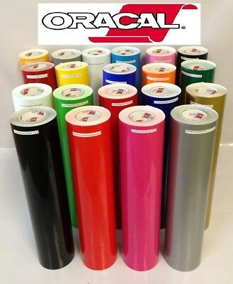 """1 Roll 12""""x5 Feet Craft Oracal 651 Vinyl Pick From 20 Glossy Colors Made in usa"""