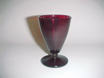 Royal Ruby Red Footed Wine / 10 Available  / Hocking Glass Co