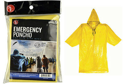 Lot of 4 Emergency Rain Poncho Camping Hiking sport bug-out-bag Disaster New