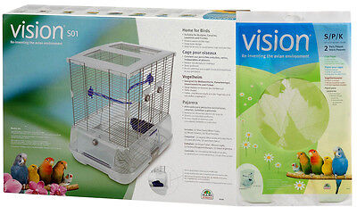 Hagen Vision Bird Cage Model S01 Small + BONUS Cage Paper: Parakeets, Finch MORE