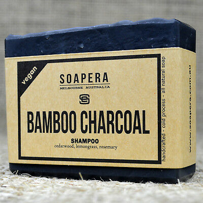 1 x bamboo charcoal shampoo bar remove impurities and keep your scalp healthy