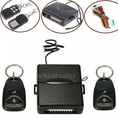 Car Remote Central Door Lock Locking Keyless Entry System + 2 Remote Controllers