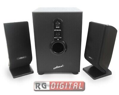 Casse Acustiche Pc 2.1 Speaker Altoparlanti Con Subwoofer 20W Rms Start Fl-3063