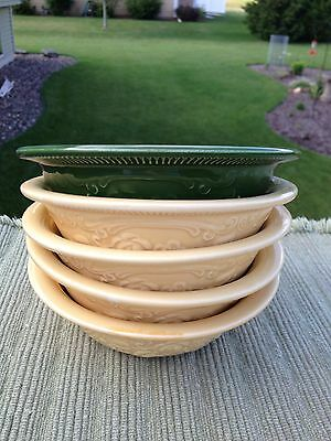 Vintage Ovenserve Ware, Made In USA Bowls - Yellow & Green