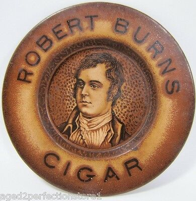 Antique Robert Burns Cigar Advertising Tip Tray early turn of century 1900s adv