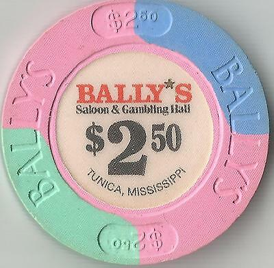 Tunica Miss.  Bally's Casino  $2.50  Chip Mississippi     Ms