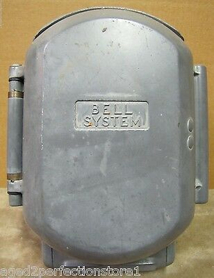 Old Bell System Western Electric Industrial Telephone large cast aluminum case
