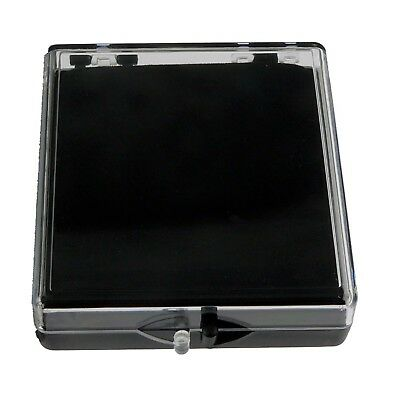 Blank Plastic Pin Presentation Display Case Acrylic Hinged Box  2 3/8 X 2 1/2