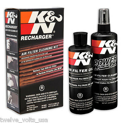 K&N Recharger Air Filter Cleaning Kit four-step maintenance system
