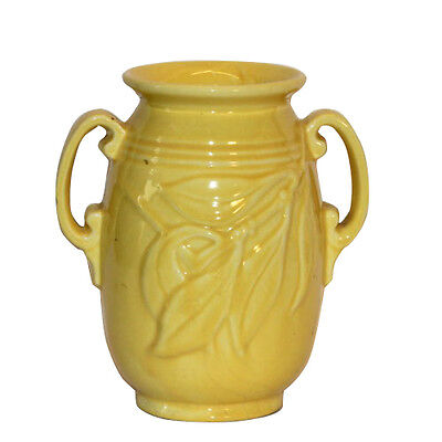 Vintage Yellow Art Pottery Arts & Crafts Vase Hull Camark Stangl Monmouth