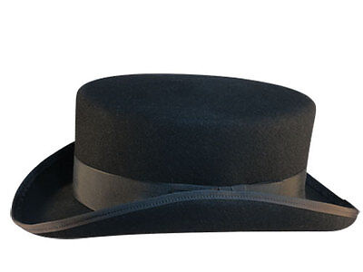 Black Top Hat with Short Crown