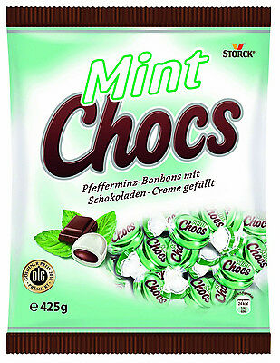 2 x Storck Mint Chocos Candies = 850grams  **Made in Germany** BEST PRICE