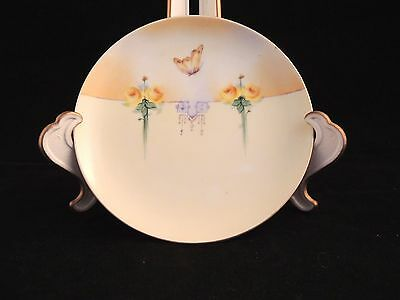 """Vintage Hand Painted Gunther China Co KC MO Deco Style Butterfly 6.25"""" BXG"""