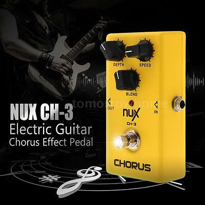 Electric Guitar Effect Pedal Chorus BBD True Bypass Yellow NUX CH-3