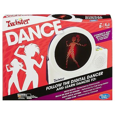 Hasbro Twister Dance Game Follow The Digital Dancer And Learn Dances New