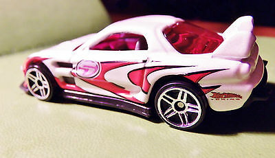 Hot Wheels Number 5 Race Car, Rare Red Glass & Headlights Larger Older Set VHTF