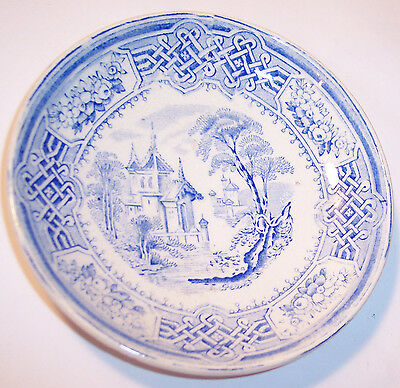 NICE SMALL ANTIQUE PORCELAIN BERLIN W A A BLUE WHITE CUP PLATE