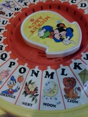 VINTAGE MATTEL DISNEY MICKEY MOUSE  ABC'S SEE 'N SAY TEACH YOUR CHILD TO READ!