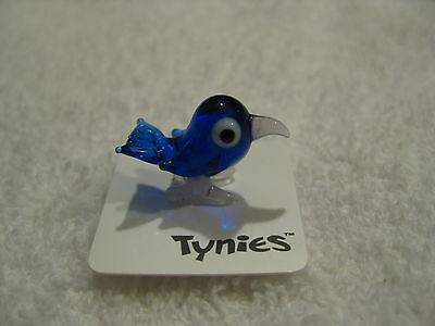 COO Blue BIRD TYNIES Tiny Glass Figure Figurines Collectibles 0077