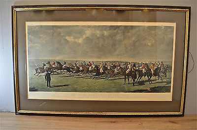 Large Antique Print The Silks And Satins Of The Turf 1867-68 Hand Coloured Lp2