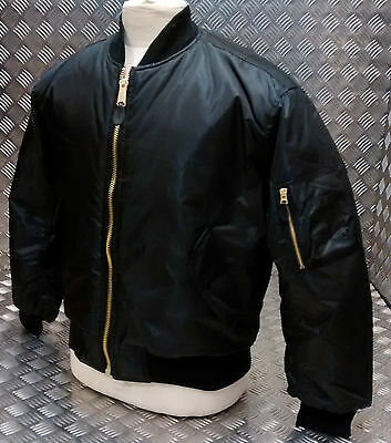 MA1 US Military Style Bomber Jacket MOD/Scooter/Bikers All Sizes & Colours - NEW