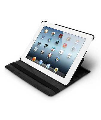 Rotating case of PU-leather for iPad 2/3/4