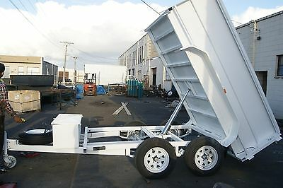10x5 2T Hydraulic Tandem TIPPER Trailer with C/P Floor, Deep Sides & Hyd Brakes