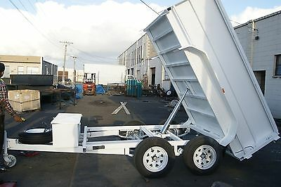 10x6 3.2T Hydraulic Tandem TIPPER Trailer with High Sides