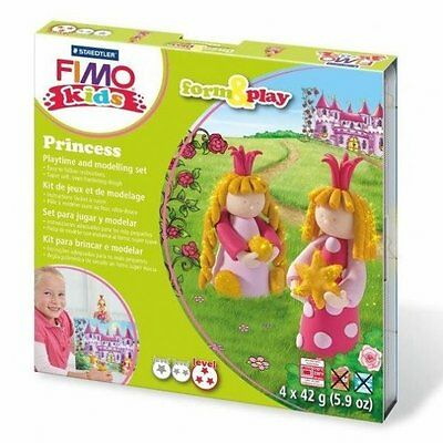 Fimo Kits For Kids Form & Play Polymer Modelling Oven Bake Clay - SET PRINCESS