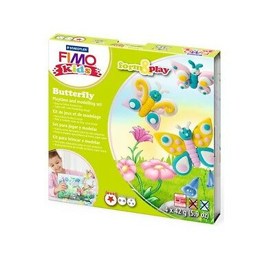 Fimo Kits For Kids Form & Play Polymer Modelling Oven Bake Clay - SET BUTTERFLY