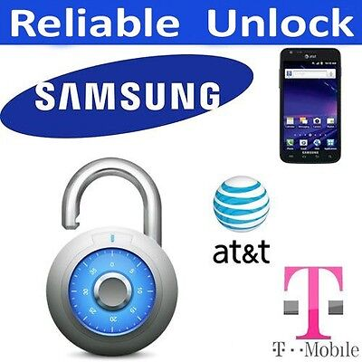 AT&T & T-Mobile SAMSUNG UNLOCK CODE Galaxy S5 NOTE III 3 S4 S5 Active MEGA G900A