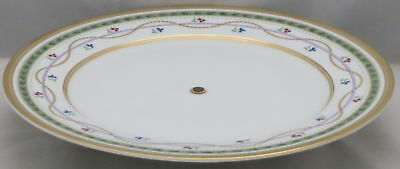 Faberge Luxembourg-Green Metal Pedestal Cake Stand