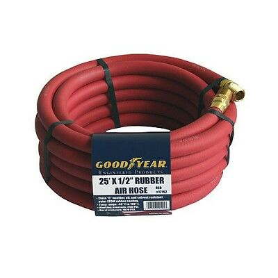 "Good Year 25' x 1/2"" 250 PSI Rubber Air Compressor Hose 12192 Goodyear USA RED"