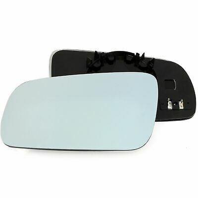 Passenger Side BLUE HEATED WING DOOR MIRROR GLASS VW Golf MK4 1996-2004 Clip On