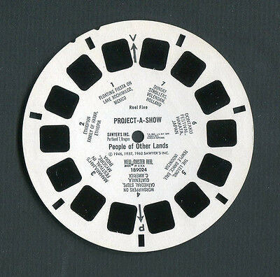 Sawyer's View-Master Reel PEOPLE OF OTHER LANDS, Project-A-Show, #1B9024