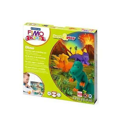 Fimo Kits For Kids Form & Play Polymer Modelling Oven Bake Clay - SET DINO