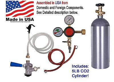 1 Faucet Party Draft Beer Kegerator Kit, Premium, With 5# CO2 (CK110)
